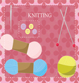 Knitting equipment icon vector image vector image