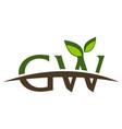 letter gw modern logo vector image