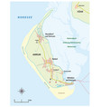 map north frisian island amrum germany vector image vector image