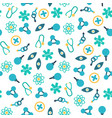 medical treatment seamless pattern vector image