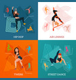 modern dance types concept vector image vector image