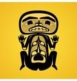 Modern stylization canadian native art a man