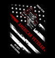 proud to be american veteran vector image vector image