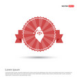 santa claus icon - red ribbon banner vector image
