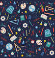 school supplies pattern on background vector image