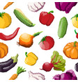 seamless pattern of pixel vegetables on vector image vector image