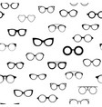 seamless retro glasses sunglasses black vector image