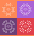 set of elegant white frame in trendy outline style vector image vector image