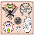 set of emblems and signs for baseball vector image vector image