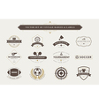 set of vintage sport badges and labels vector image