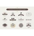 set vintage sport badges and labels vector image