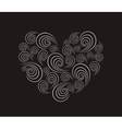Spiral heart vector image