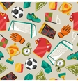 Sports seamless pattern with soccer football vector image vector image