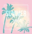 summer sale poster web banner silhouette of vector image
