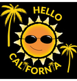 T shirt typography graphic quote Hello California vector image vector image