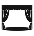 theatrical curtain icon simple style vector image