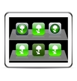 Tree green app icons vector image vector image