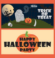 trick or treat happy halloween party wish vector image vector image