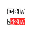 two thin line eyebrow logo vector image vector image