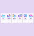 website and mobile app onboarding screens vector image vector image