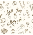 wedding seamless pattern Marry me ring vector image vector image