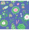 Whimsical floral seamless pattern vector image