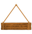 Wooden signboard on the rope vector image vector image