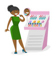 young african-american woman buying lipstick vector image vector image