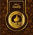 Retro Vintage Coffee Background with Label vector image