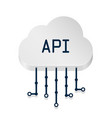 cloud api 3d sign technology vector image