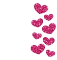 Background for Valentines Day with Shimmering vector image