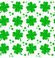 four-leaf clover for luck seamless vector image