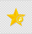star icon music note icon vector image