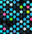 abstract blue grunge star seamless vector image vector image
