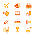 airport icons - juicy series vector image vector image