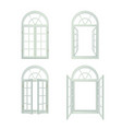 Arched Windows Realistic Set vector image vector image