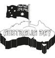 australia day 26 january vintage typographic vector image vector image