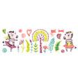 bacute zebra girl watercolor nursery vector image vector image