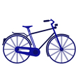 bike on white background vector image