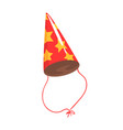 birthday party hat with yellow stars celebration vector image vector image
