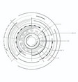 black and white interface and geometric forms vector image