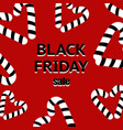black friday sale poster with shiny black hearts vector image vector image