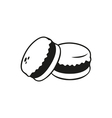 Black simple macarons icon isolated vector image vector image