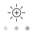 brightness interface ui user bold and thin black vector image