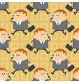 Businessman seamless pattern vector image