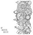 cartoon doodles morning routine vector image vector image