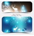 Christmas banners with deers vector | Price: 1 Credit (USD $1)