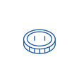 coincent line icon concept coincent flat vector image vector image