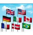 Collection of flags of some countries vector image vector image