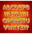 Comic Colorful Alphabet vector image vector image